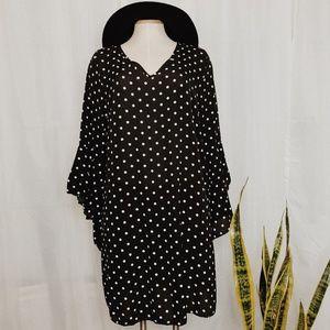 • HIGHNESS • boho polka dot bell sleeve dress